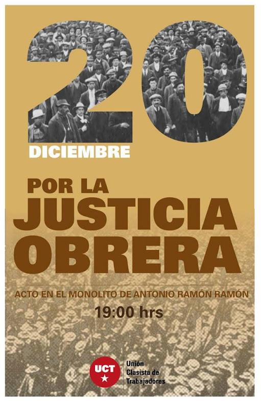 SANTIAGO:  ACTO POR LA JUSTICIA OBRERA