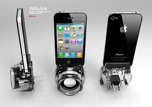 WALdock Wall Plug-in Speaker/Charger For iPhone