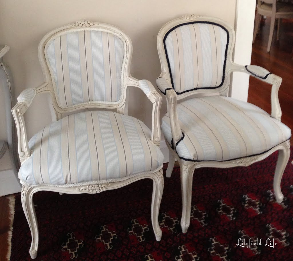 Pair of upholstered French Louis Armchairs for sale by Lilyfield Life - Lilyfield Life: Two Vintage French Louis Armchairs