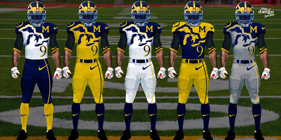 Futuristic Concept NCAA Football Uniforms For Many Teams