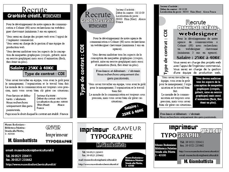 Exercice De Ralisation Dannonce Presse Et Carte Visite En Noir Blanc Indesign