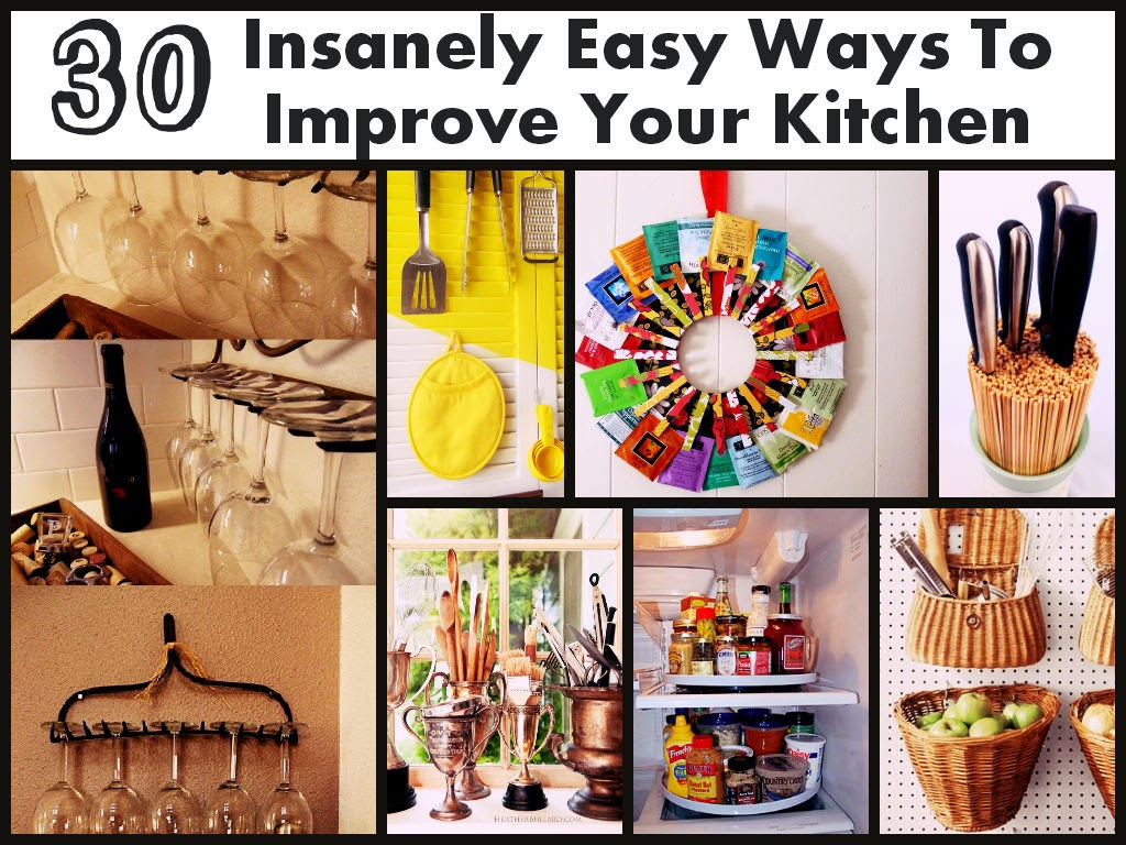 30 insanely easy ways to improve your kitchen diy craft for 30 kitchen ideas