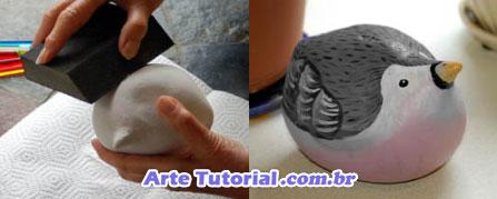 Como pintar escultura de gesso