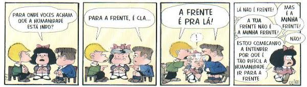 Mafalda (Quino) - porque a humanidade não vai para a frente