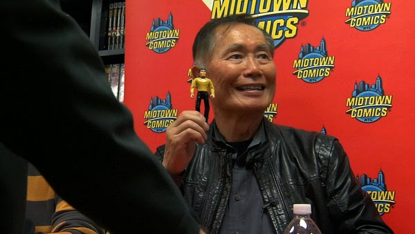George Takei at an autograph signing in To Be Takei