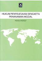Hukum Penyelesaian Sengketa Penanaman Modal