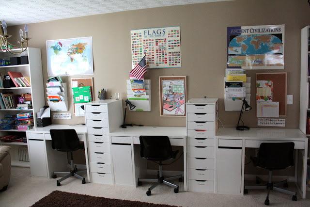 Homeschool Classroom Design Ideas : It s just laine brandon and rebecca home school room tour