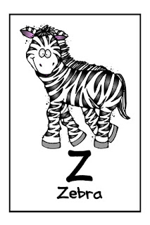 We Love Being Moms Letter Z Zebra