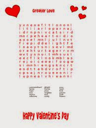 Valentines Word Search Easy 6