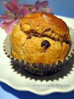 cranberry-chocolate-drop-muffin