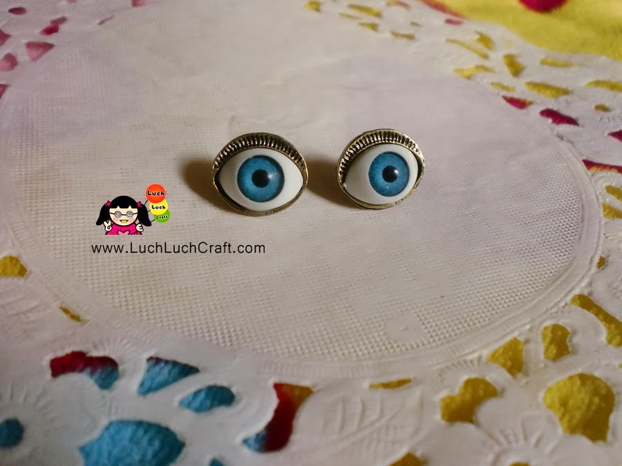 Devil's Eye Punk Style Earrings