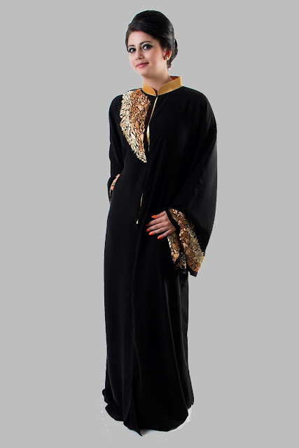 Embroidered Abaya Designs 2013 | Islamic Abaya Dress Fashion 2013-14 ...