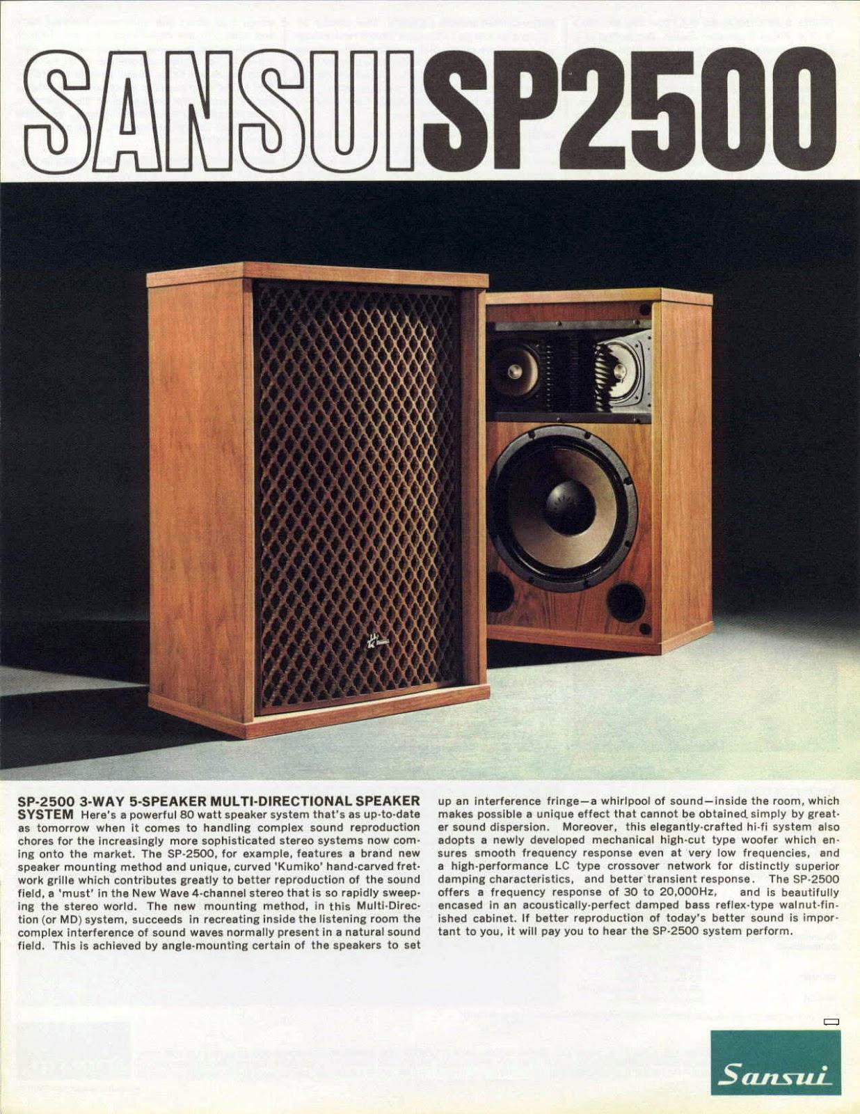 Golden Age Of Audio Sansui Sp 2500 Vintage Speakers