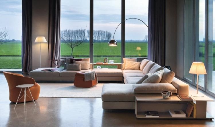 sof s modernos em formato xxl decora o e ideias. Black Bedroom Furniture Sets. Home Design Ideas