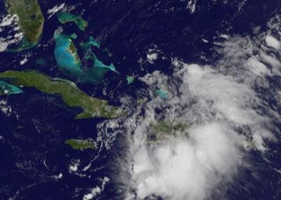 Tropischer Sturm EMILY nach Nacht