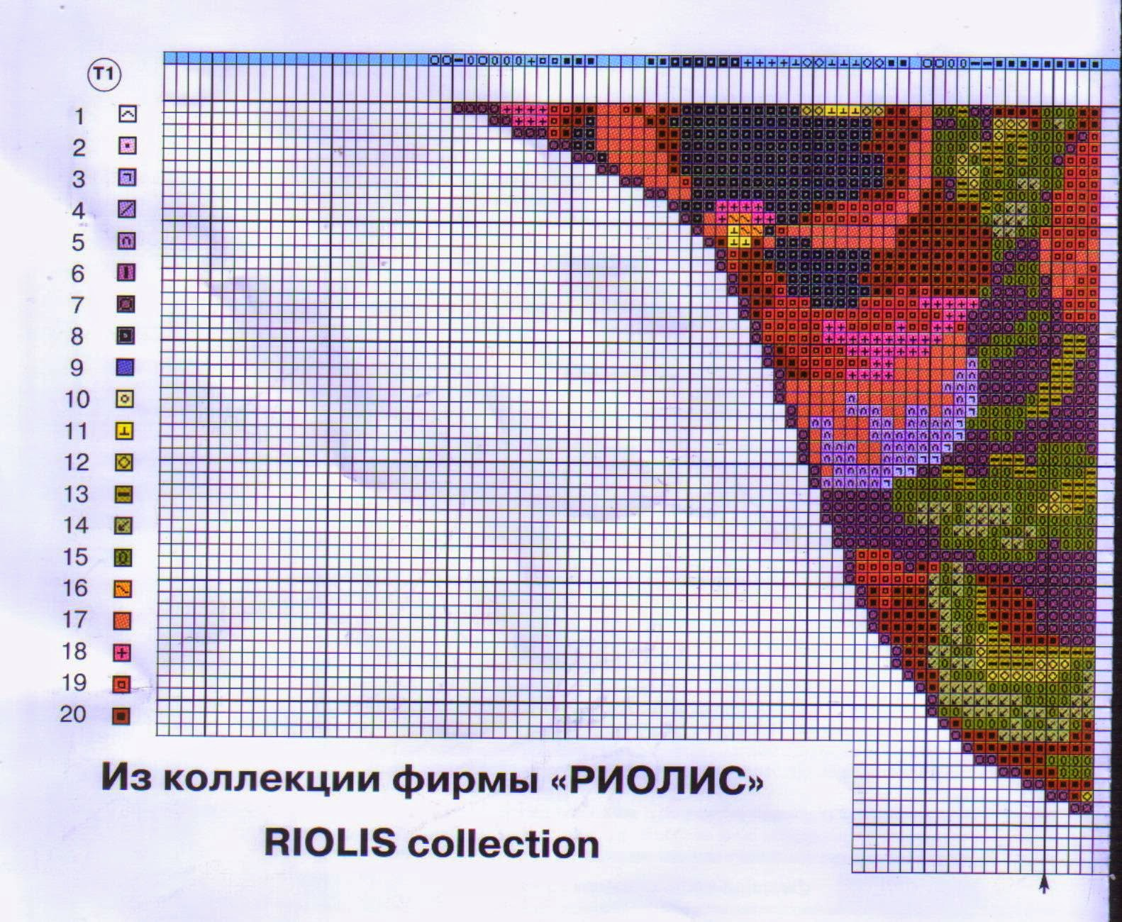 Подушка венское кружево риолис схема