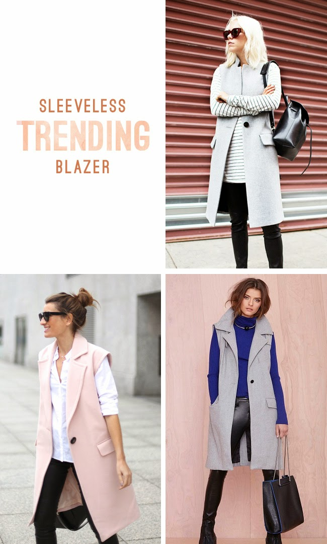 sleeveless blazer - sleeveless jacket trend