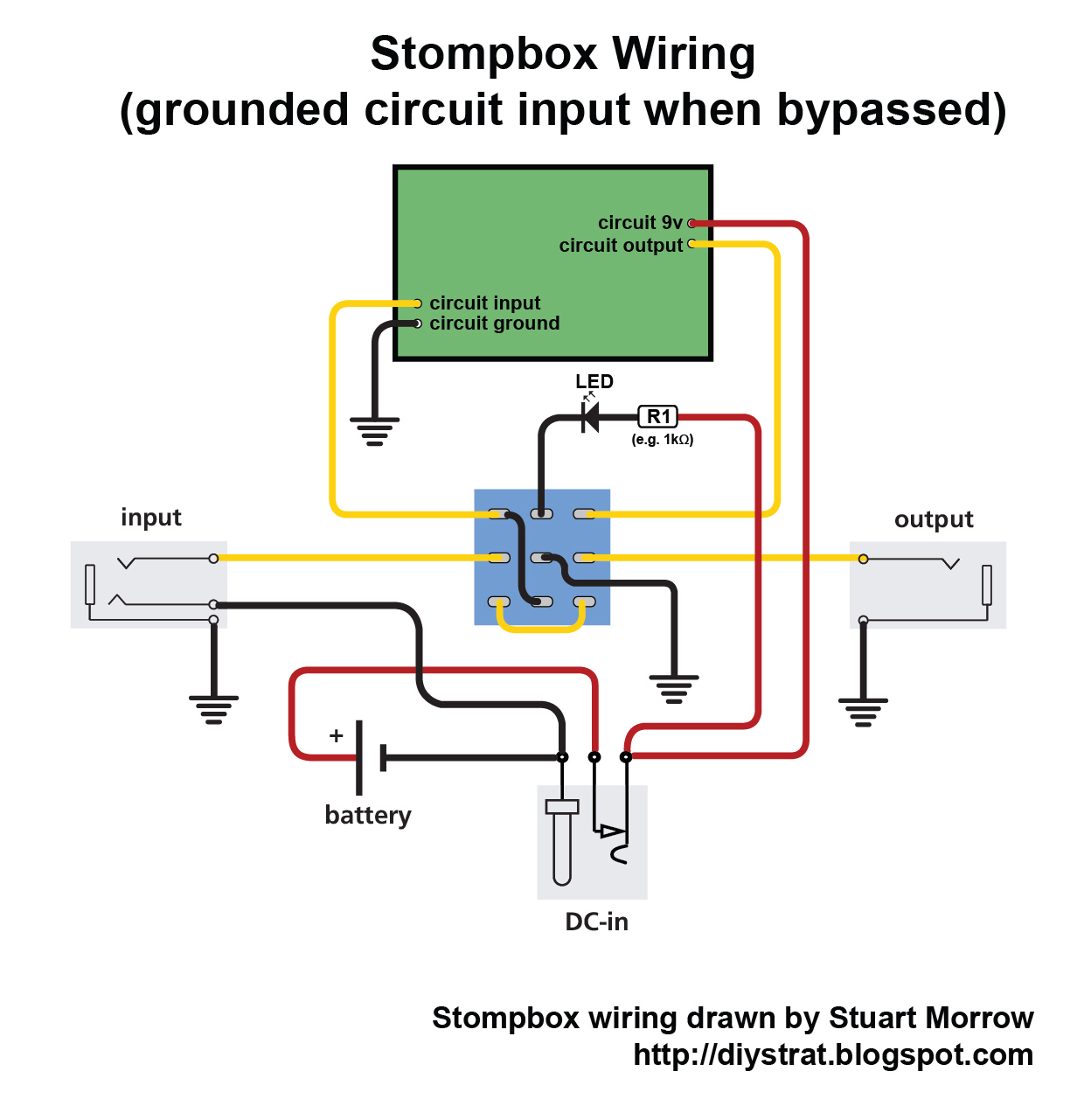how to wire up a stomp box effects pedal diy strat and other rh diystrat blogspot com