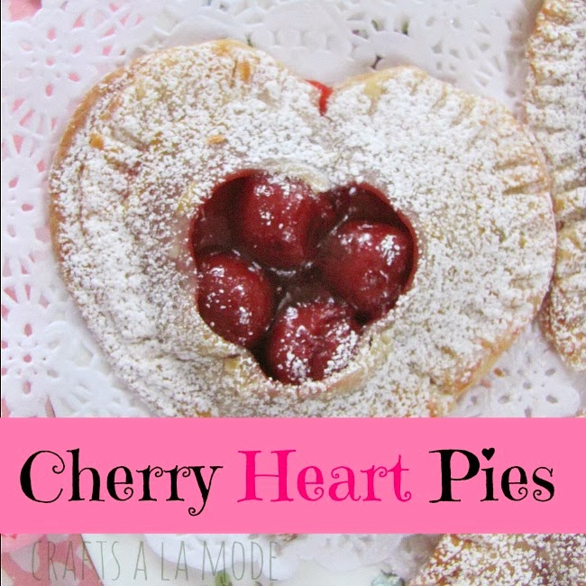 sweet red heart shaped hand pies