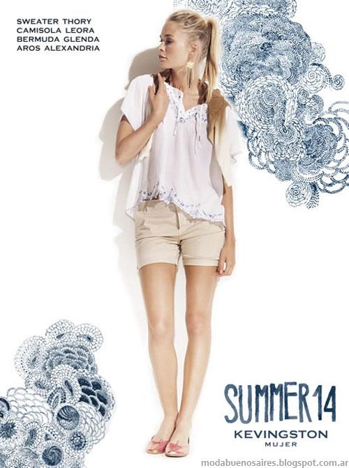 Kevingston Mujer 2014. Moda 2014. Moda verano 2014 camisolas y blusas.