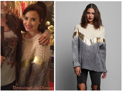 Demi Lovato: Rag Union X Urban Renewal Ombre Foiled Fisherman Sweater