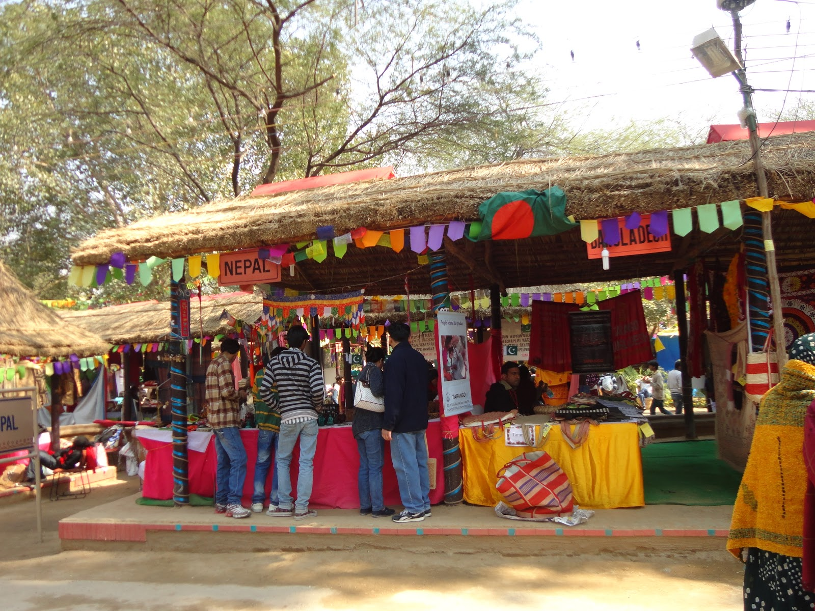 The Nepal Stall at the Surajkund Crafts Mela,India