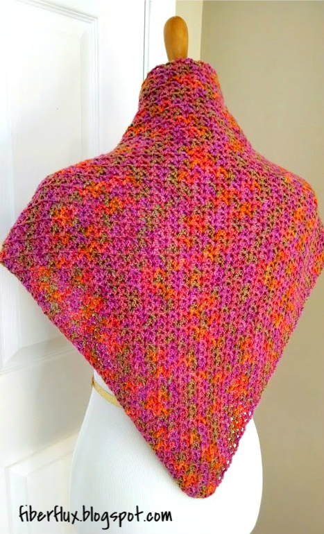 Simple Triangle Crochet Shawl Pattern : Fiber Flux: Free Crochet Pattern...Zinnia Flower Shawl!