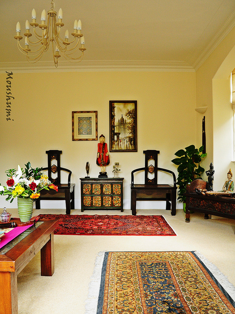 My dream canvas home tour a collector 39 s haven - Ethnic indian living room designs ...