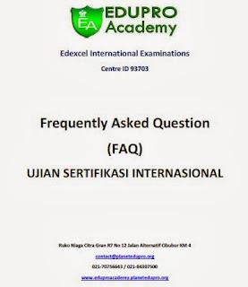 FAQ Ujian Sertifikasi Internasional