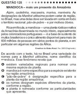 ANÁLISE - ENEM/2011 - QUESTÃO 128 - PROVA CINZA
