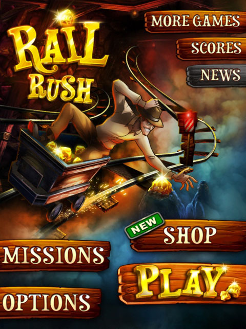 Rail Rush Free App Game By MiniClip