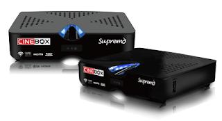 Atualizacao do receptor Cinebox Supremo HD