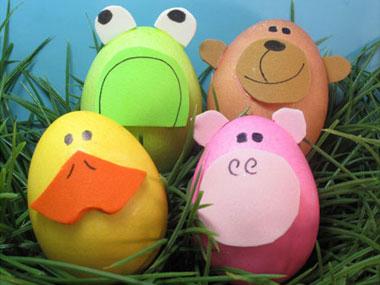 Яйчица животинки за Великден за малки деца