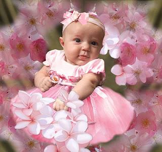 Cute Babies: Baby Flower