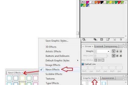 Menerapkan gaya grafis untuk logo teks