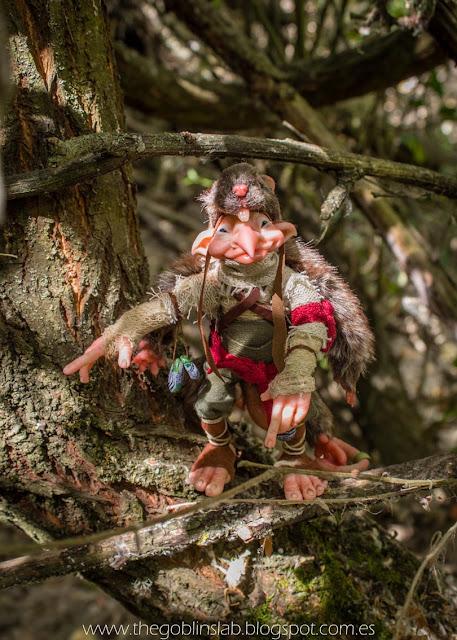 duende artesanal elfo criatura fantástica escultura ooak
