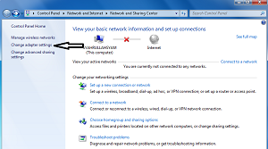Cara Mengatasi Limited Access Wifi di Windows 7 change adapter settings