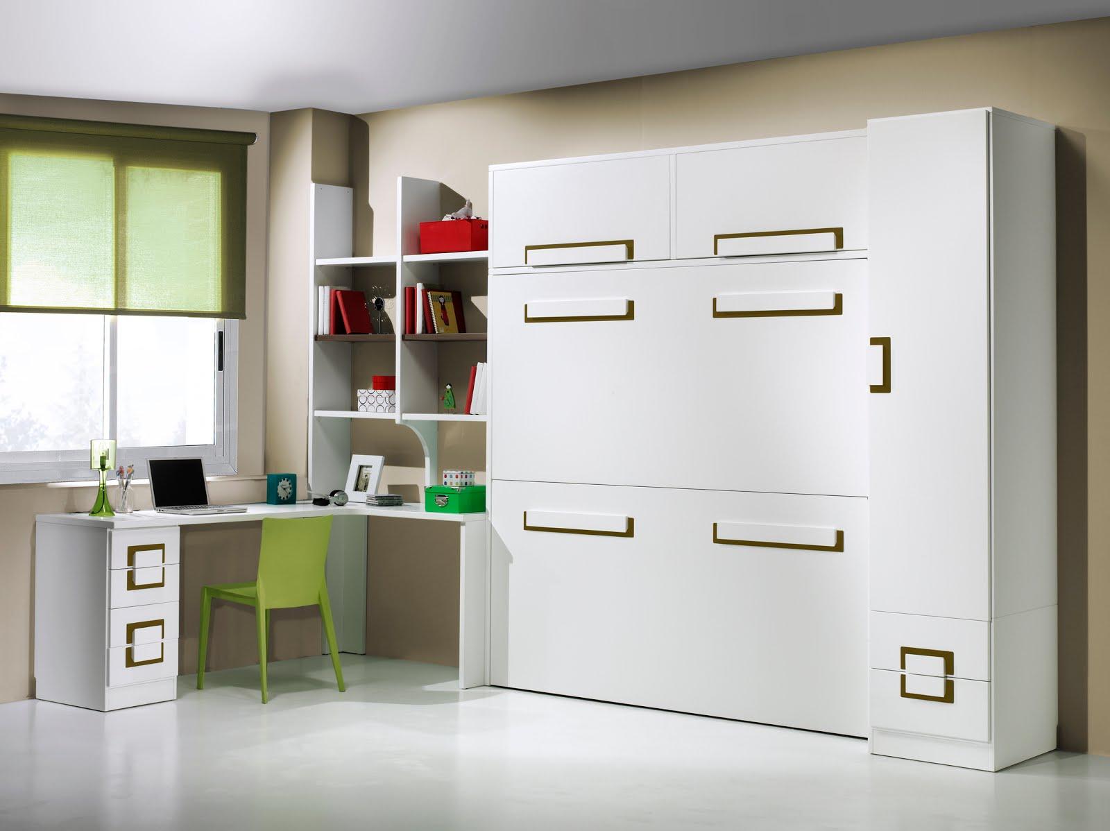 Dormitorios con camas abatibles literas abatibles - Dormitorios para espacios pequenos ...