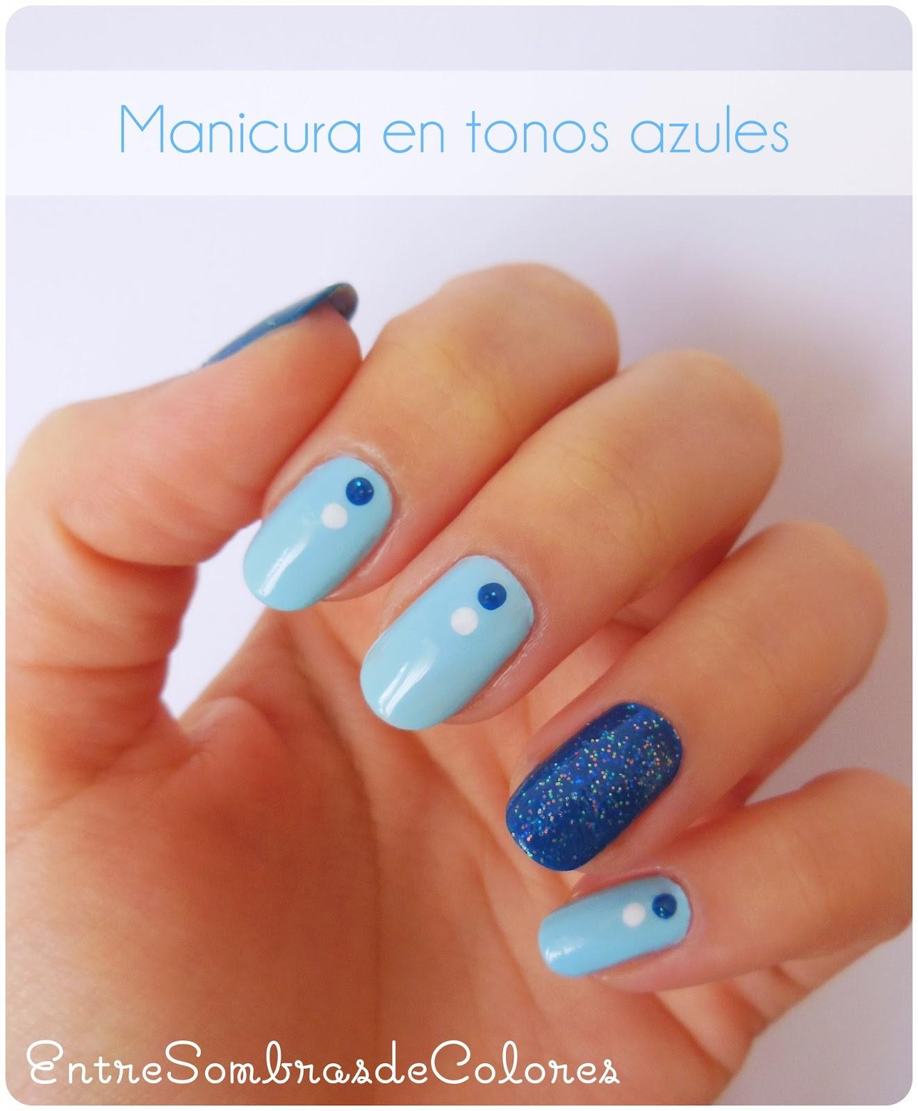 Entre sombras de colores manicura invernal en tonos azules - Tonos azules ...