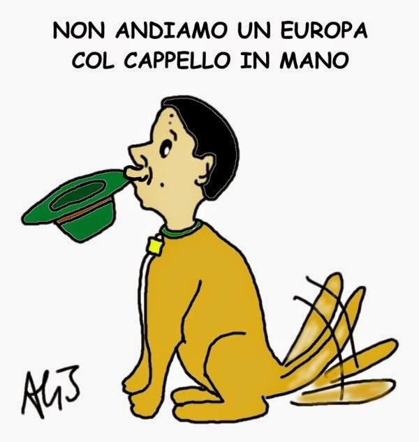 Renzi, Europa, satira