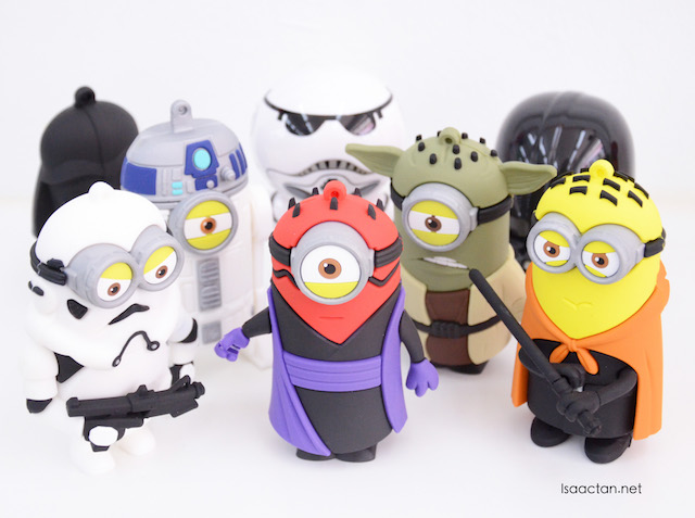 The Star Wars powerbank gang, each going for RM38 (8800mAh)