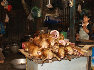 dog meat sell in Hanoi