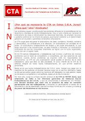 """Por qué es necesaria la CTA en Setex O.R.A. Jerez? ¿Para qué """"otro"""" Sindicato?"""