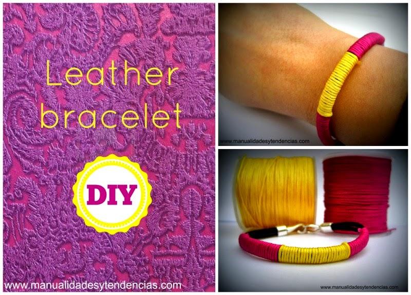 Leather bracelet tutorial / Tutorial de pulsera de cuero / bracelet en cuir