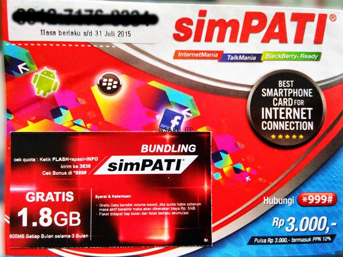 Paket Internet Telkomsel 1,8 GB harga 25 ribu