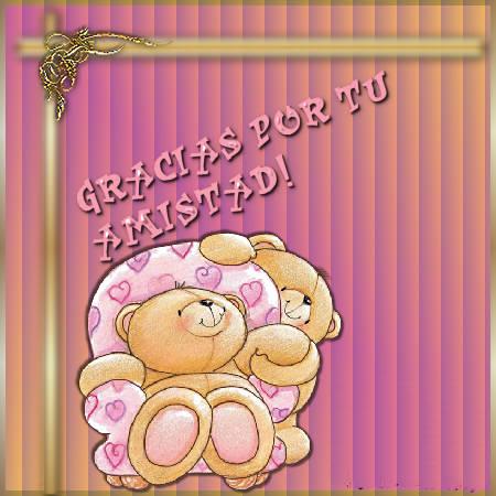 tarjetas de agradecimiento con ositos