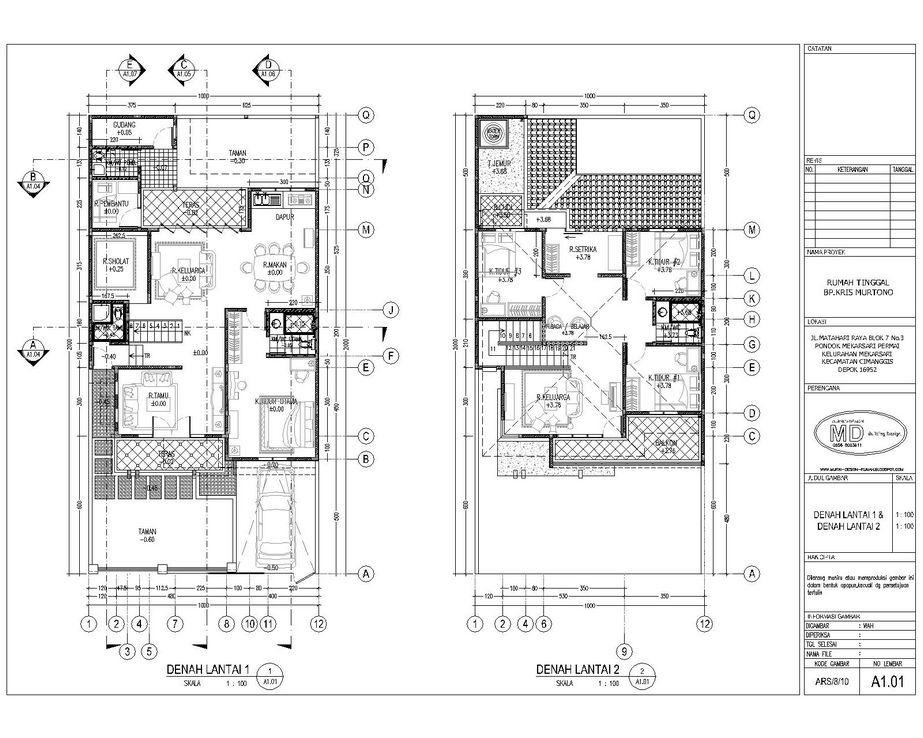 rancangan denah rumah sederhana 2 lantai terbaru
