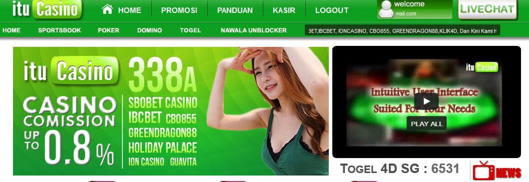tampilan halaman depan ituCasino.net Agen Judi Togel dan Casino Online Indonesia