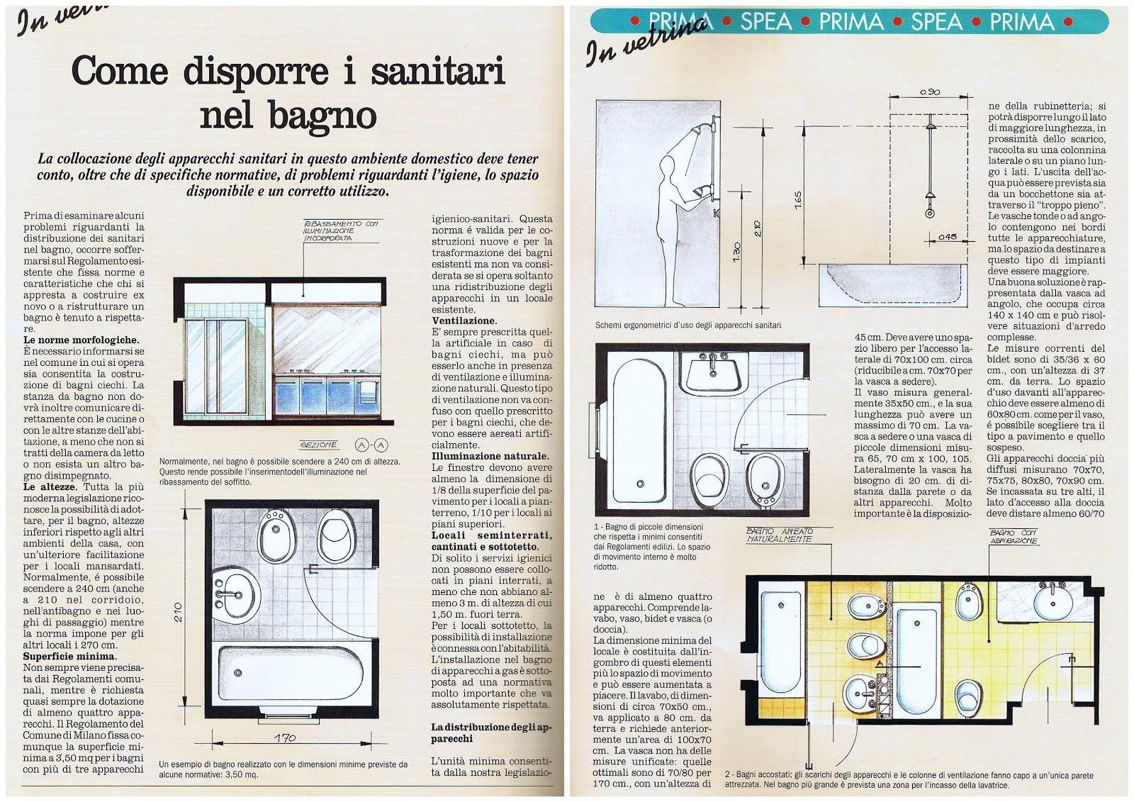 Passionecasa appunti di architettura come disporre i sanitari nel bagno - Come sbiancare i sanitari del bagno ...