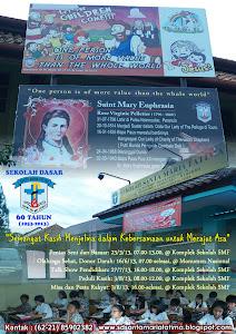 Poster HUT ke-60 SD Santa Maria Fatima Jakarta